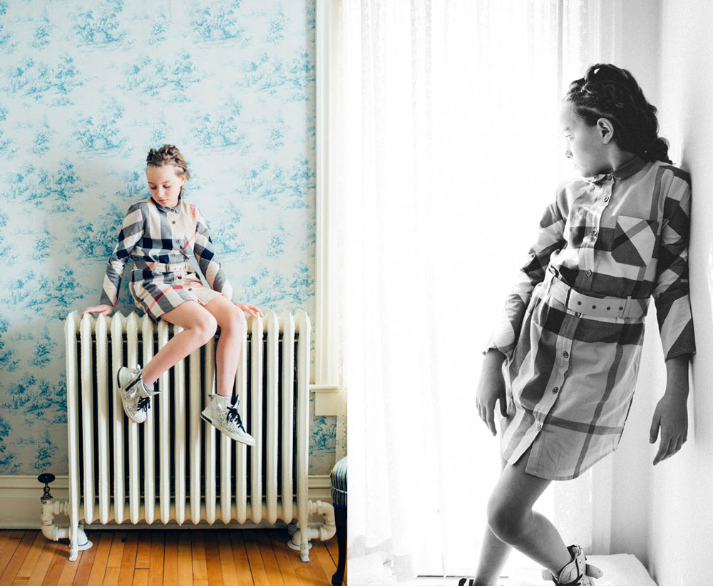 teslyn-editorial-child-model-burberry-dress-heat-radiator-8441-teslyn-editorial-child-model-burberry-dress-window-light-8218-travis-dewitz